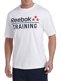 Reebok White Training Stars Tee