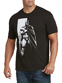 Batman Black & White Graphic Tee