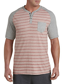 PX Clothing Contrast Heathered Henley