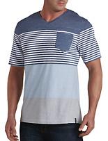 PX Clothing Engineered Stripe V-Neck Tee