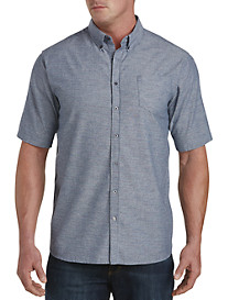 PX Clothing Textured Chambray Sport Shirt