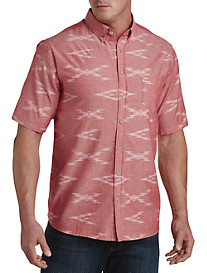 PX Clothing Reverse-Print Chambray Sport Shirt
