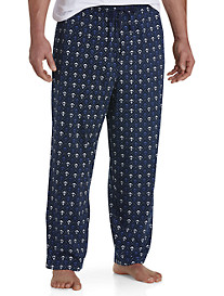 Harbor Bay® Anchor-Print Knit Lounge Pants