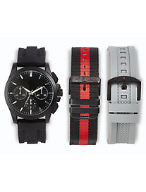 True Nation® 3-Strap Watch Set