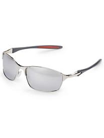 True Nation® Silver Metal Wrap Sunglasses