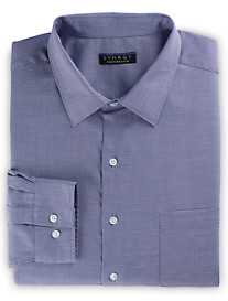 Synrgy Performance Stretch-Collar Patterned Dress Shirt