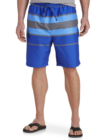 True Nation® Heather Stripe Swim Trunks