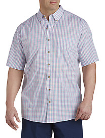 Harbor Bay® Easy-Care Medium Check Sport Shirt