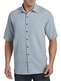 Harbor Bay® Grid-Pattern Microfiber Sport Shirt