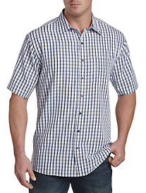 Harbor Bay® Medium Plaid Microfiber Sport Shirt