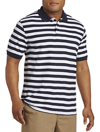 Harbor Bay® Alternating Stripe Piqué Polo