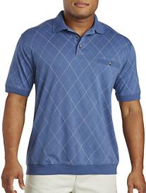 Harbor Bay® Double Diamond Print Banded-Bottom Shirt