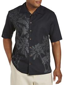 Island Passport® Palm Tree Panel Camp Shirt