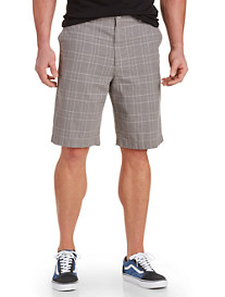 True Nation® Plaid Linen-Blend Shorts
