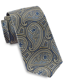 Gold Series Designed In Italy Large Repeating Tonal Paisley Tie