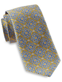 Gold Series Designed In Italy Large Repeating Floral Tie