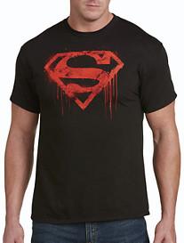 Superman Spray Logo Graphic Tee