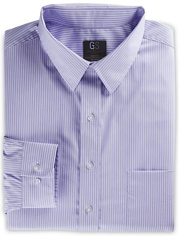Gold Series Bengal Stripe Dress Shirt (lilac) ( Mix & Match Geoffrey Beene, Gold Series & Synrgy Dress Shirts )