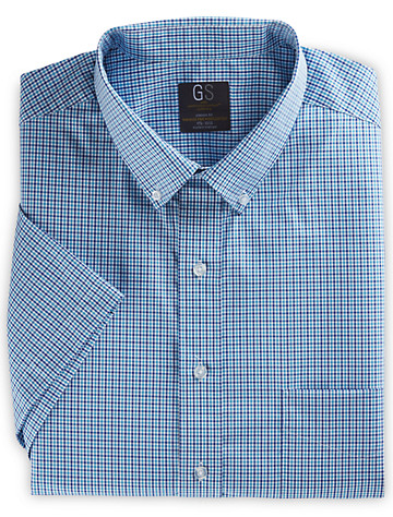 Gold Series Mini Check Dress Shirt (bright blue)
