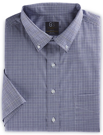 Gold Series Medium Plaid Dress Shirt (dark blue)