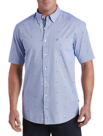 Nautica® Ship Wheel Printed Sport Shirt