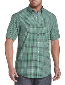 Nautica® Out Rolling Green Plaid Sport Shirt