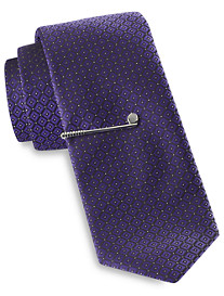 Gold Series Tonal Diamond Geometric Tie