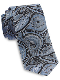 Gold Series Designed in Italy Large Exploded Paisley Silk Tie