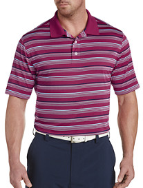Reebok Golf Speedwick Textured Multi-Stripe Polo Shirt
