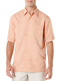 Cubavera® Floral Jacquard Sport Shirt