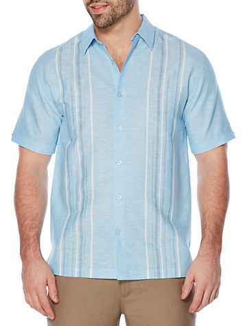 Cubavera® Yarn-Dyed Panel Sport Shirt - Available in little boy blue