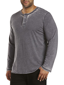 MVP Collections Three-Button Henley