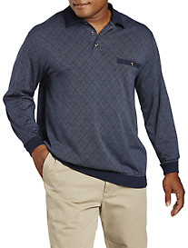 Harbor Bay Argyle Jacquard Banded-Bottom Shirt