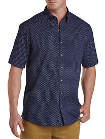 Harbor Bay® Easy-Care Paisley Print Sport Shirt