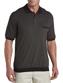 Harbor Bay® Birdsye Jacquard Banded-Bottom Shirt