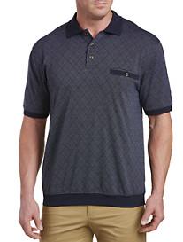 Harbor Bay® Argyle Jacquard Banded-Bottom Shirt