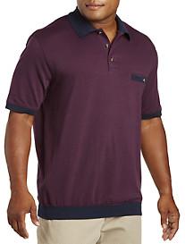 Harbor Bay® Basketweave Jacquard Banded-Bottom Shirt