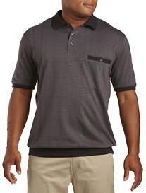 Harbor Bay® Stripe Jacquard Banded-Bottom Shirt