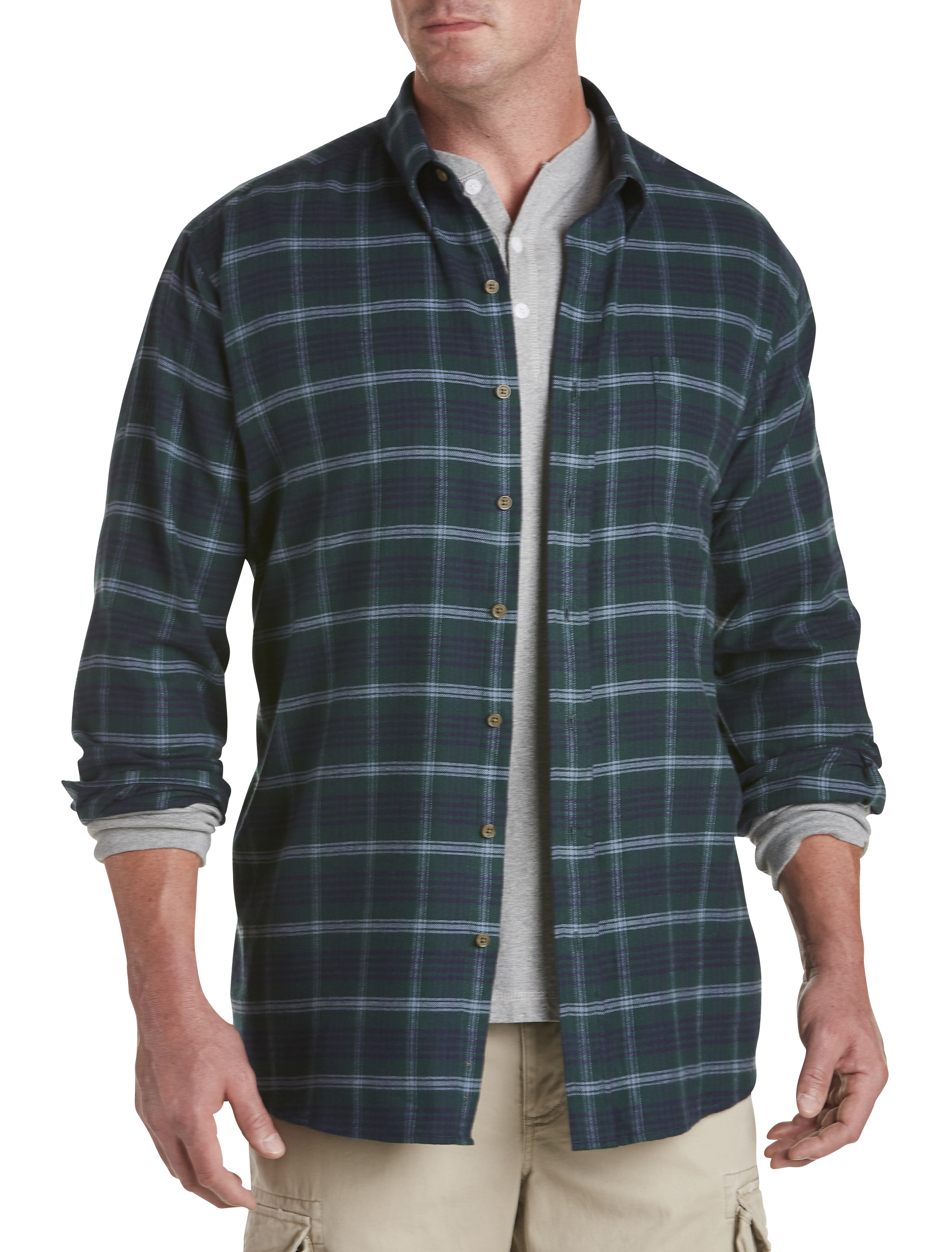 Harbor Bay Medium Plaid Flannel Shirt | Tuggl