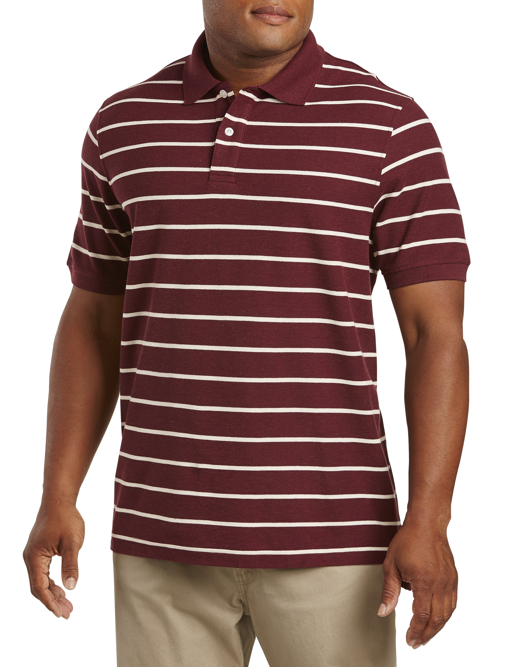 Harbor Bay Wide Stripe Polo | Tuggl