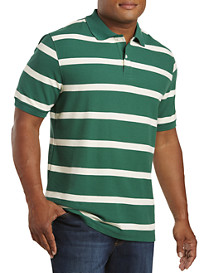 Harbor Bay® Large Rugby Stripe Polo