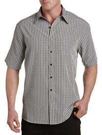 Harbor Bay® Microfiber Small Plaid Sport Shirt