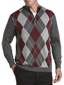 Oak Hill® ¼-Zip Argyle Sweater