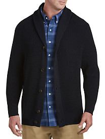 Oak Hill® Shawl-Collar Cardigan