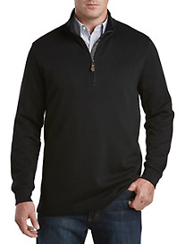 Oak Hill® Ribbed-Knit 1/4-Zip Pullover