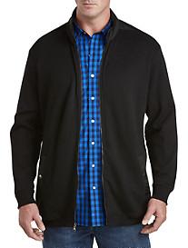 Synrgy Nylon-Trimmed Sweater Jacket