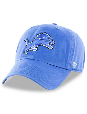 '47 Brand NFL Detroit Lions Clean Up Baseball Cap - Available in lions blue