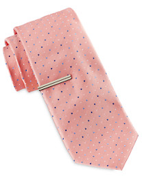 Gold Series Small Pindot Tie with Tie Bar