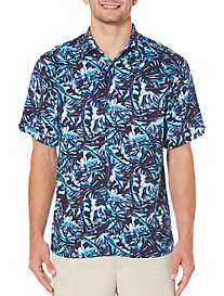 Cubavera All-Over Leaf Blueprint Sport Shirt