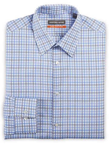 Geoffrey Beene® Medium Check Dress Shirt (blue) ( Mix & Match Geoffrey Beene, Gold Series & Synrgy Dress Shirts )